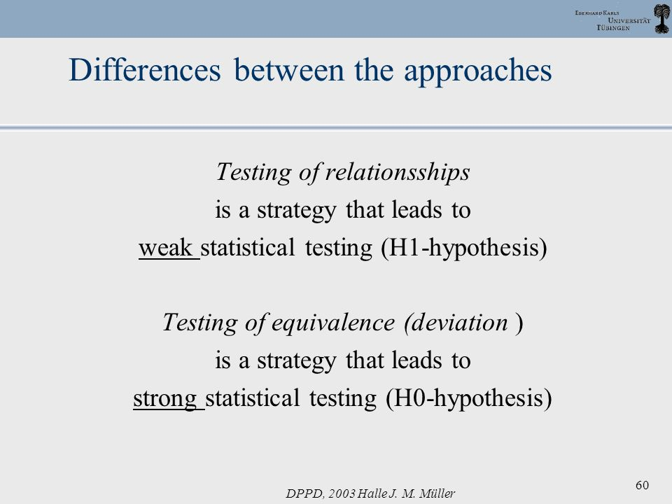 Differences between the approaches