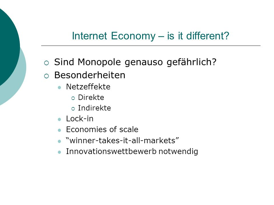 Internet Economy – is it different