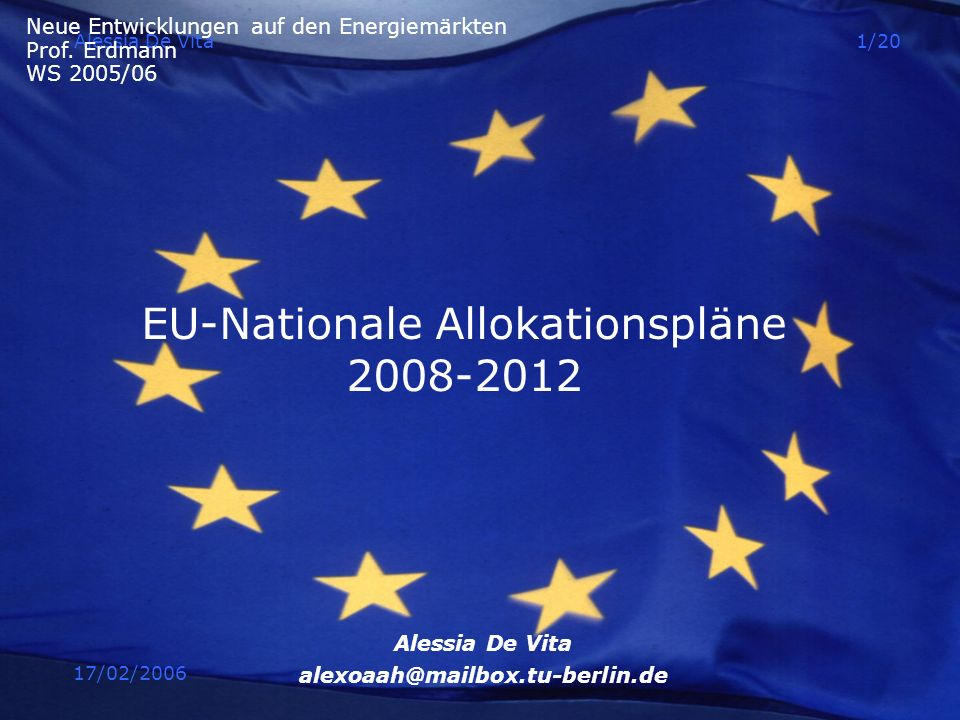 EU-Nationale Allokationspläne