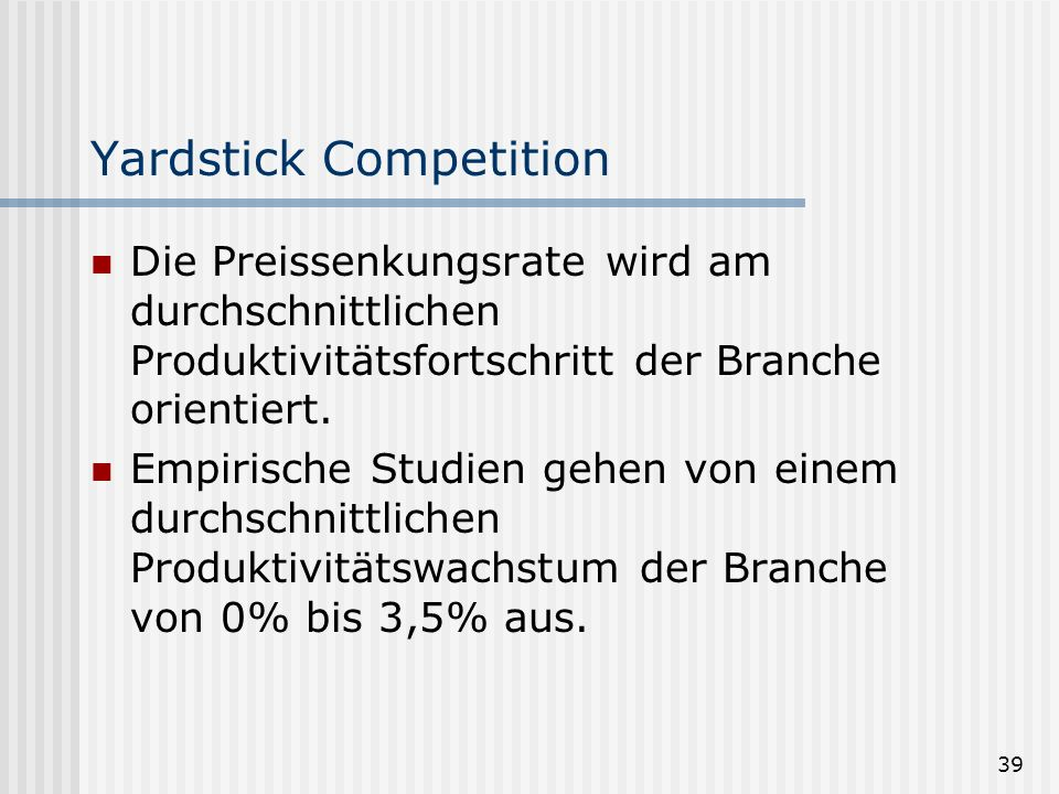 Yardstick Competition