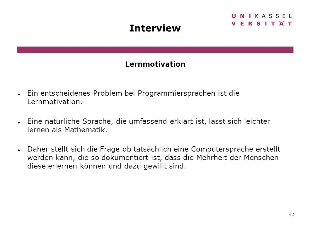 Interview Lernmotivation