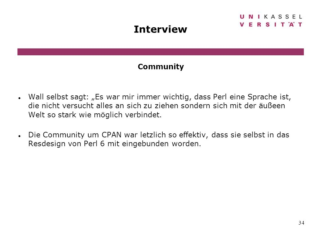 Interview Community.