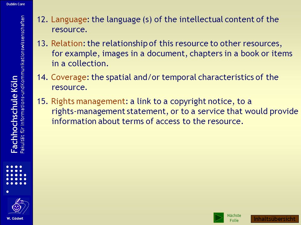 12. Language: the language (s) of the intellectual content of the