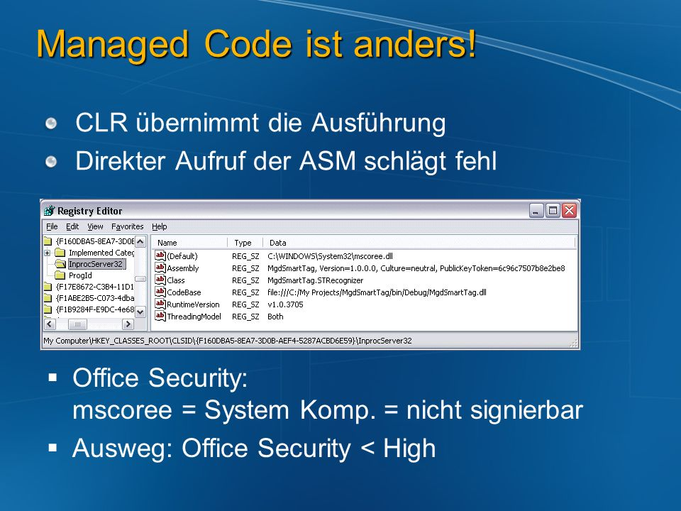 Managed Code ist anders!
