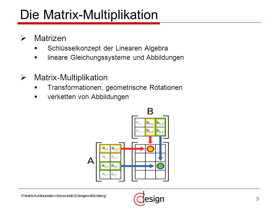 Die Matrix-Multiplikation