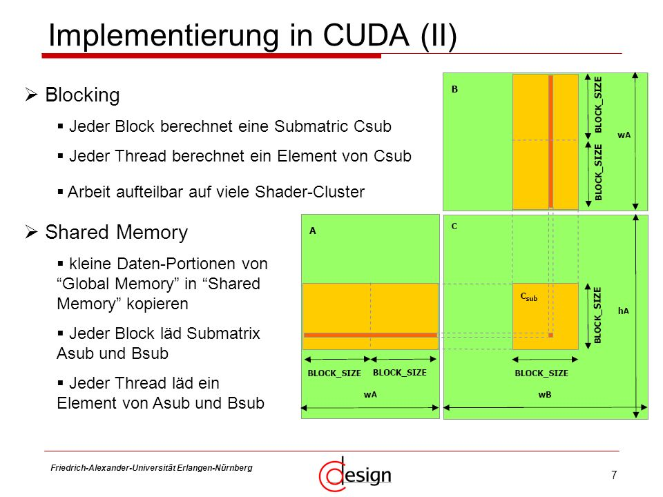 Implementierung in CUDA (II)