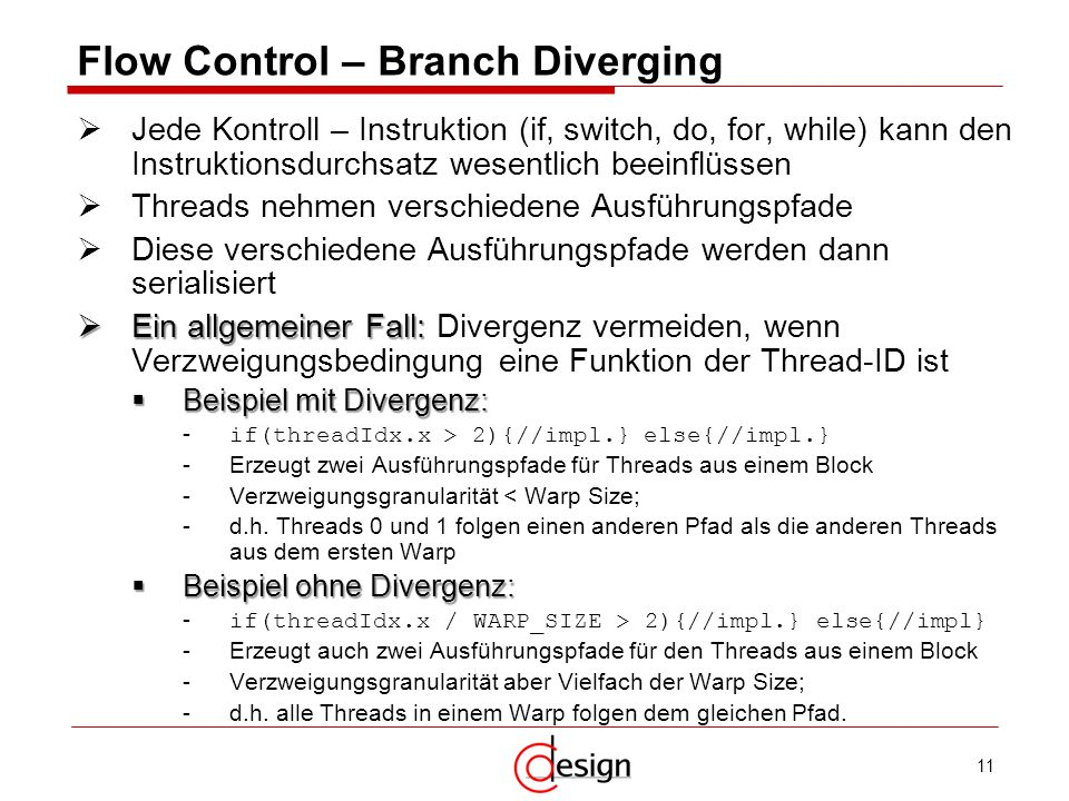 Flow Control – Branch Diverging