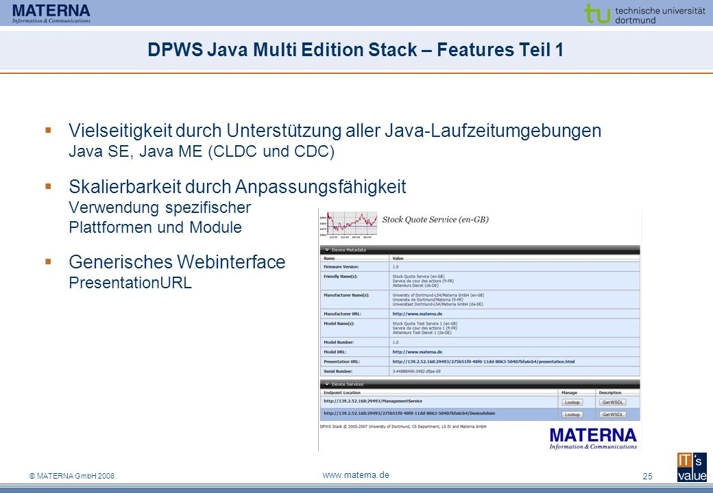 DPWS Java Multi Edition Stack – Features Teil 1