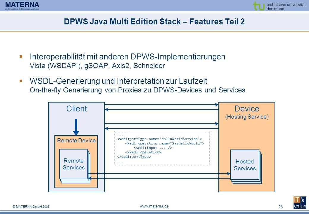 DPWS Java Multi Edition Stack – Features Teil 2