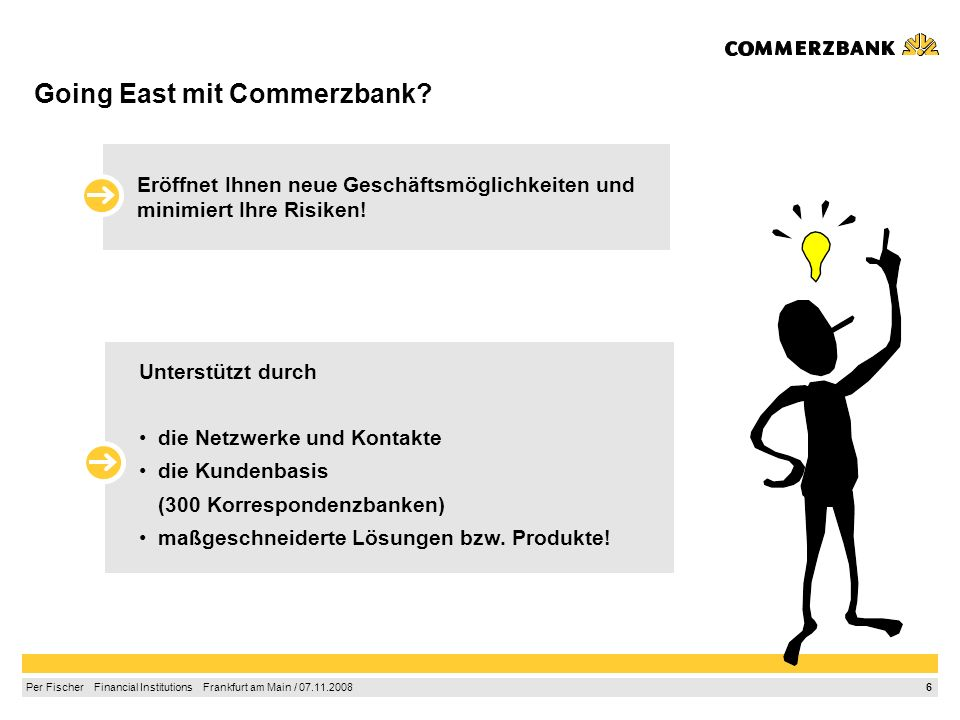 Going East mit Commerzbank