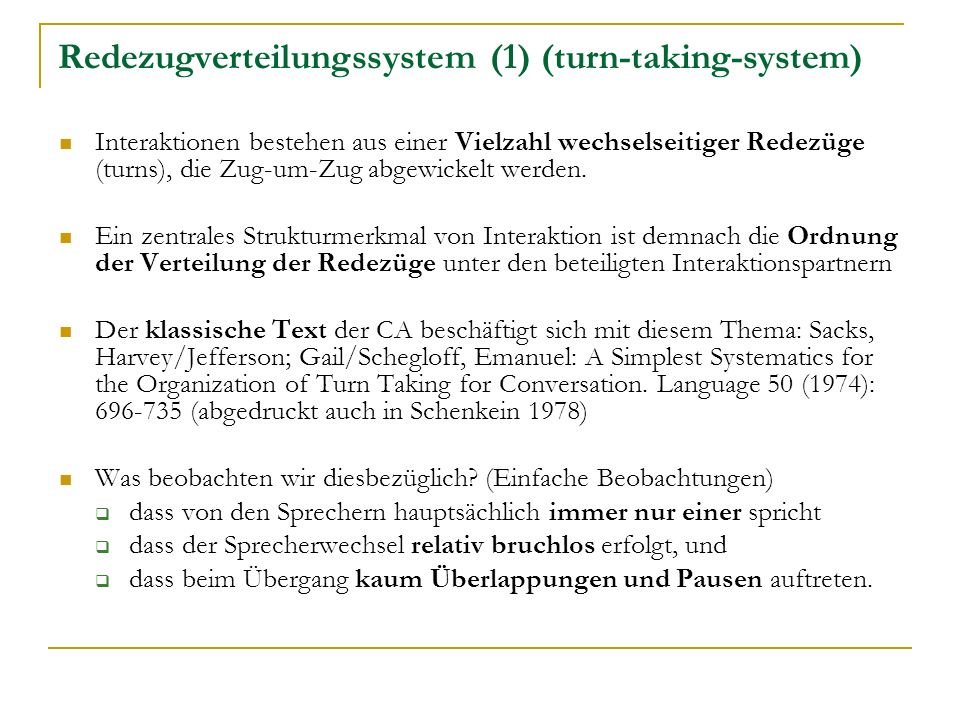 Redezugverteilungssystem (1) (turn-taking-system)