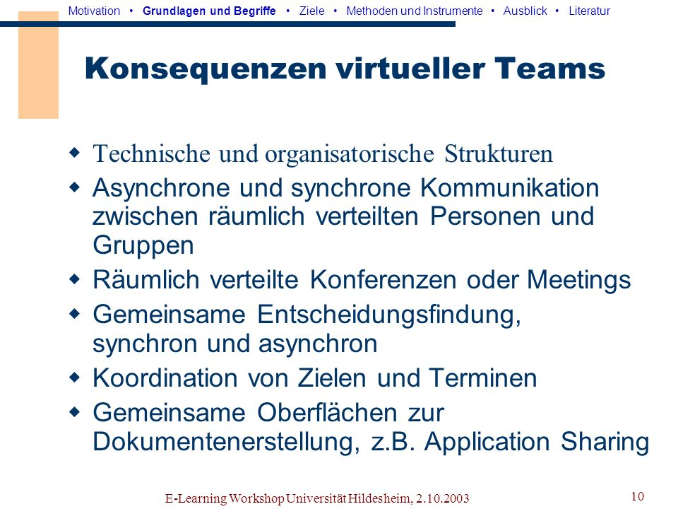 Konsequenzen virtueller Teams