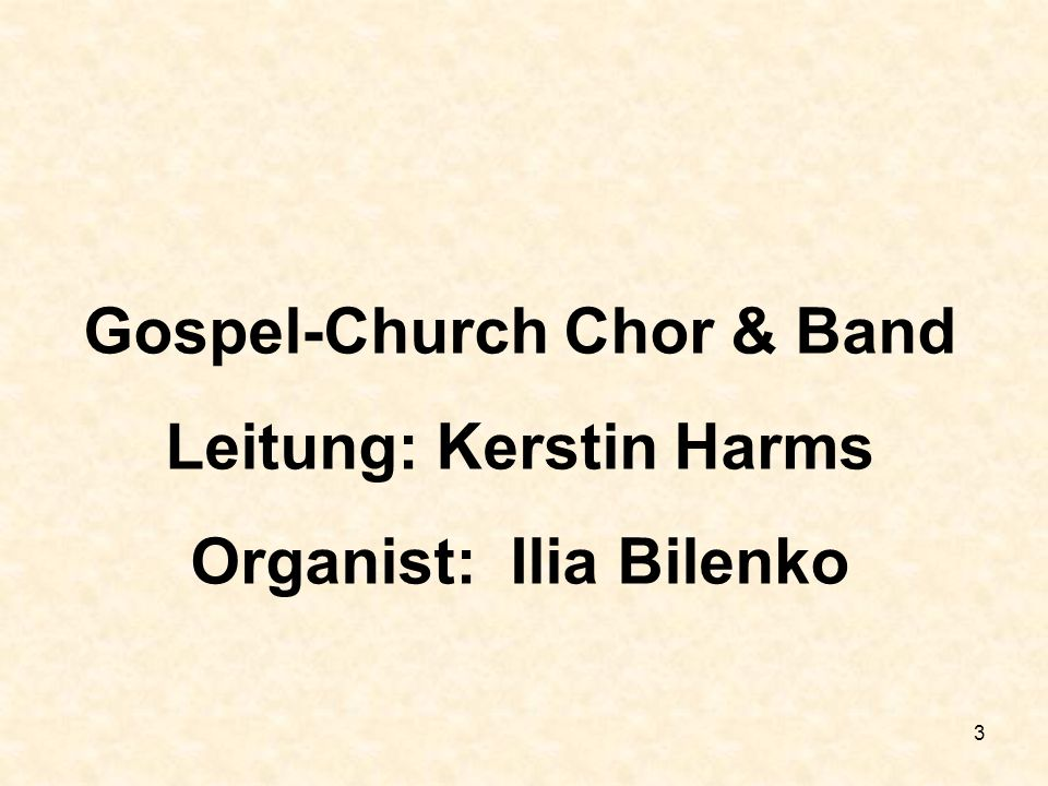 Gospel-Church Chor & Band Leitung: Kerstin Harms
