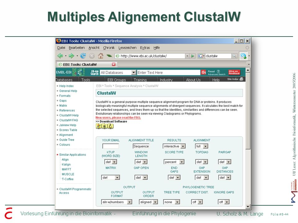 Multiples Alignement ClustalW