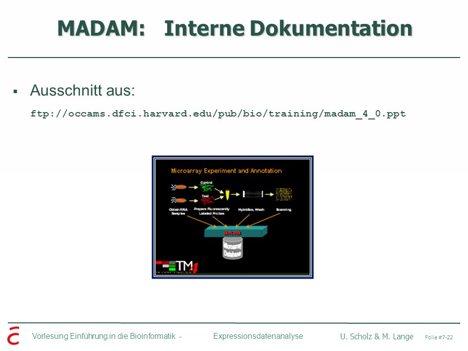 MADAM: Interne Dokumentation