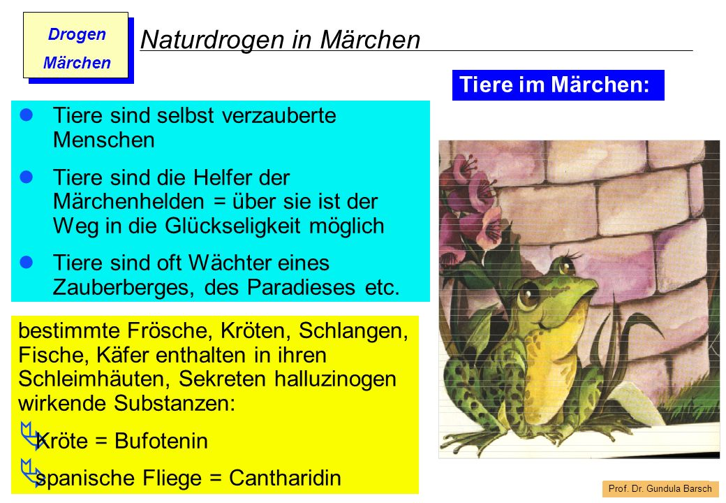 Naturdrogen in Märchen