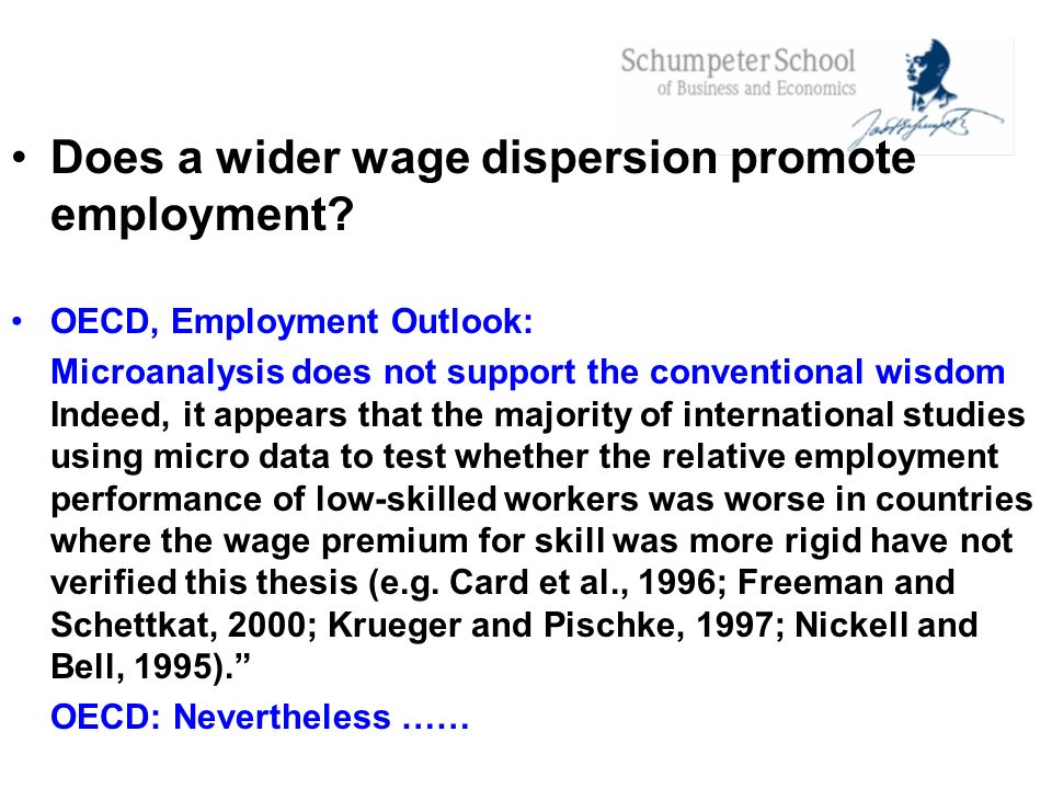 Does a wider wage dispersion promote employment