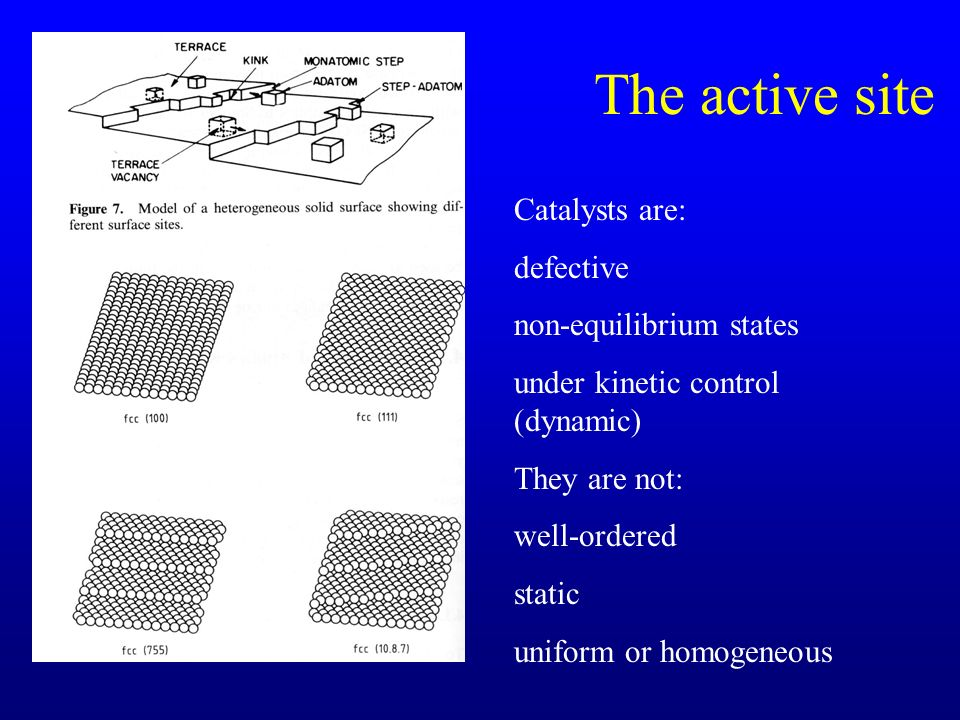 The active site Catalysts are: defective non-equilibrium states