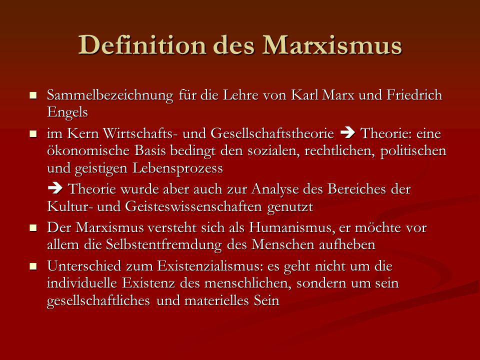 Definition des Marxismus