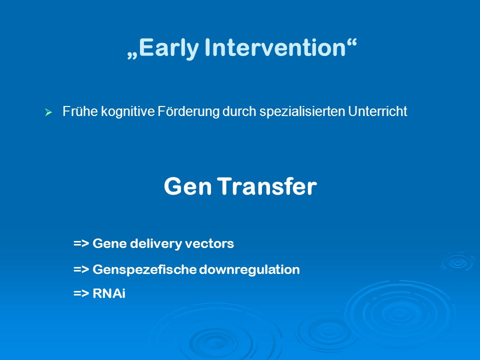 """Early Intervention Gen Transfer"