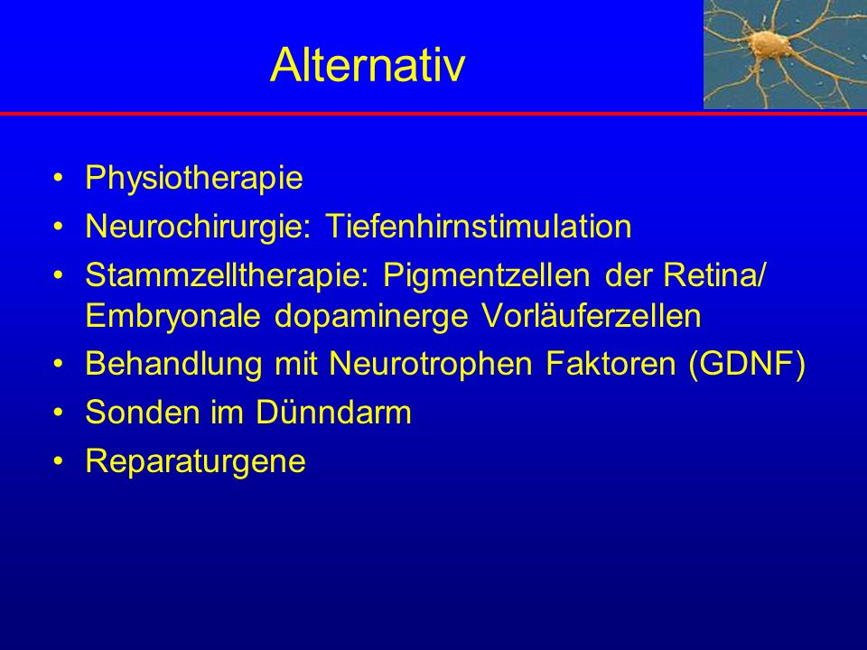 Alternativ Physiotherapie Neurochirurgie: Tiefenhirnstimulation