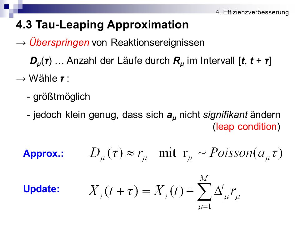 4.3 Tau-Leaping Approximation