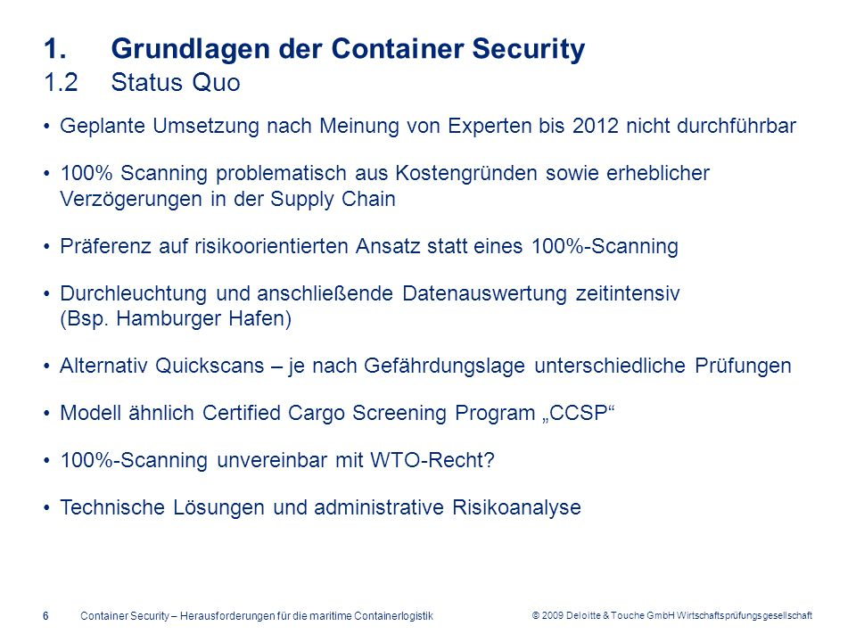 1. Grundlagen der Container Security 1.2 Status Quo