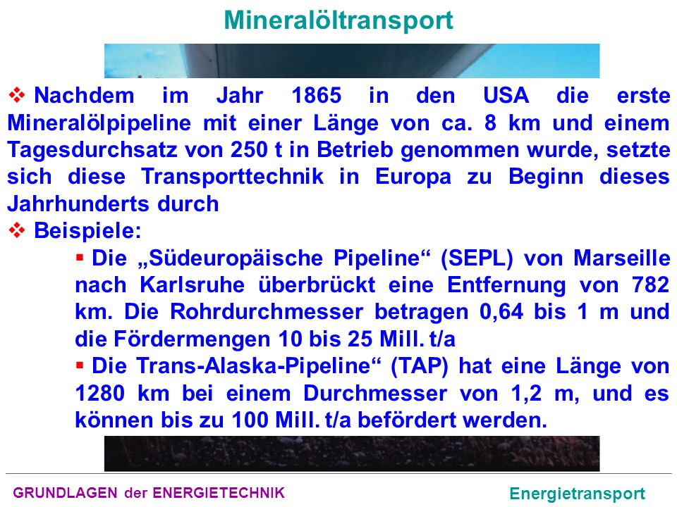 Mineralöltransport