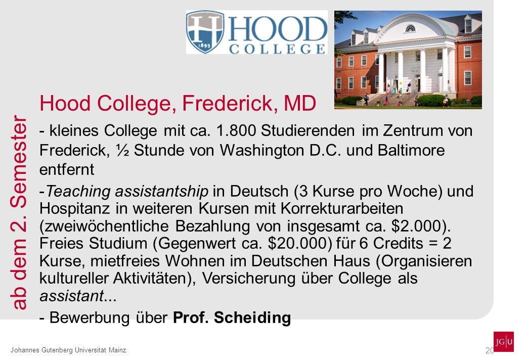 Hood College, Frederick, MD