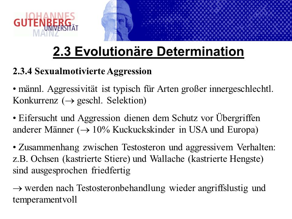 2.3 Evolutionäre Determination