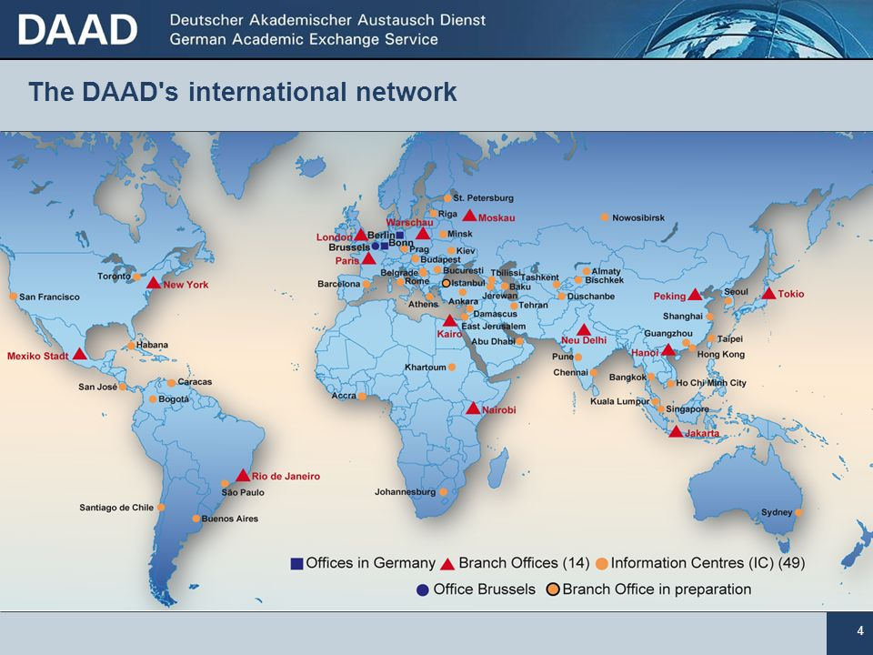 The DAAD s international network