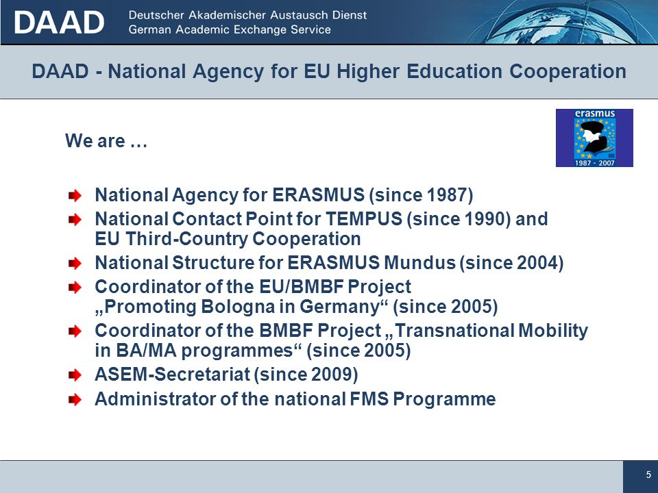 DAAD - National Agency for EU Higher Education Cooperation