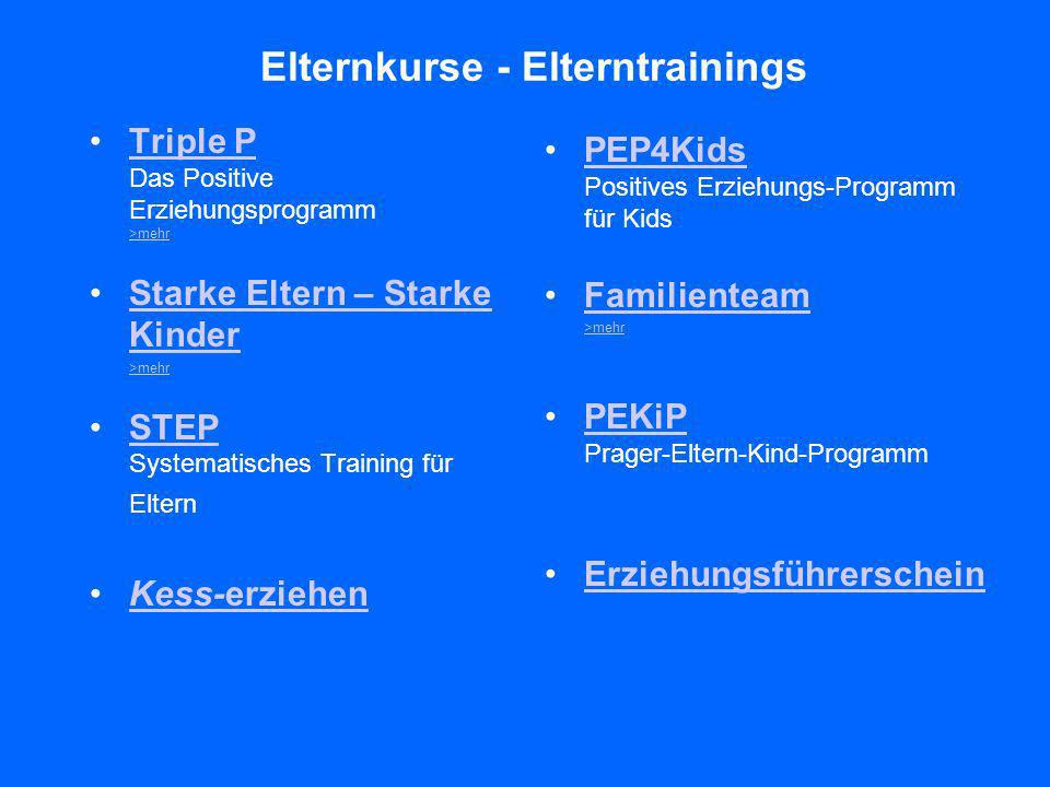 Elternkurse - Elterntrainings