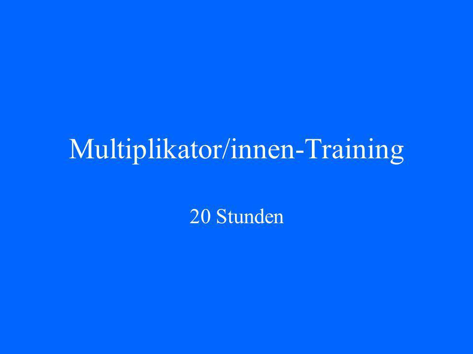Multiplikator/innen-Training