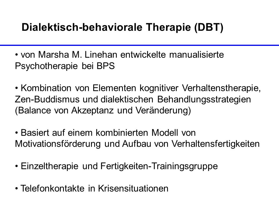 Dialektisch-behaviorale Therapie (DBT)