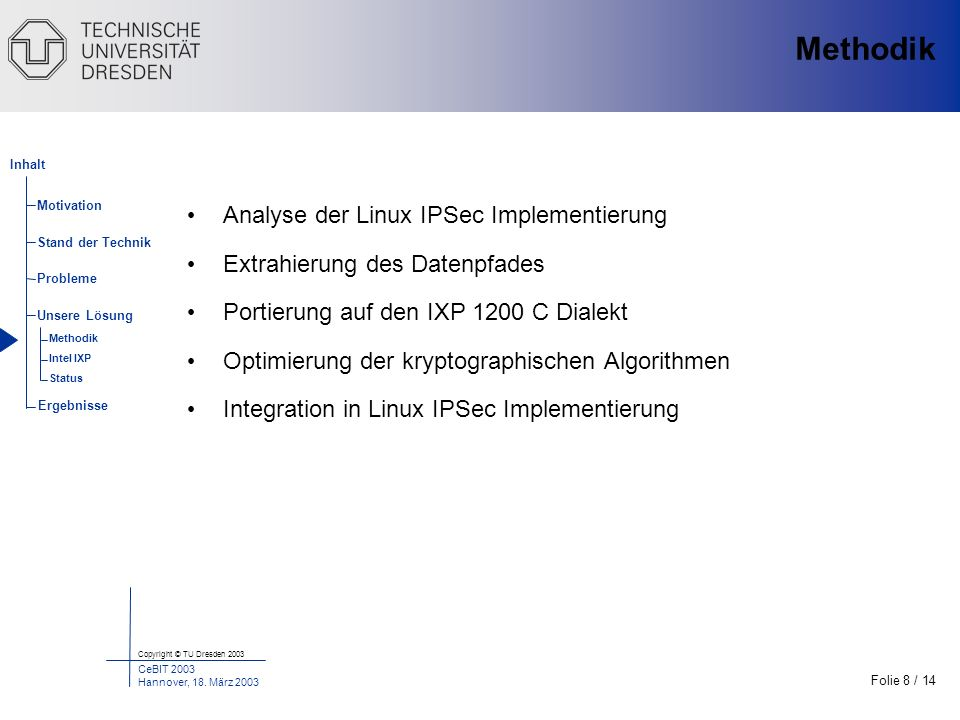 Methodik Analyse der Linux IPSec Implementierung