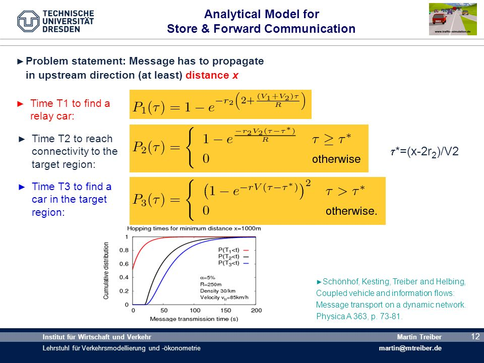 Analytical Model for Store & Forward Communication