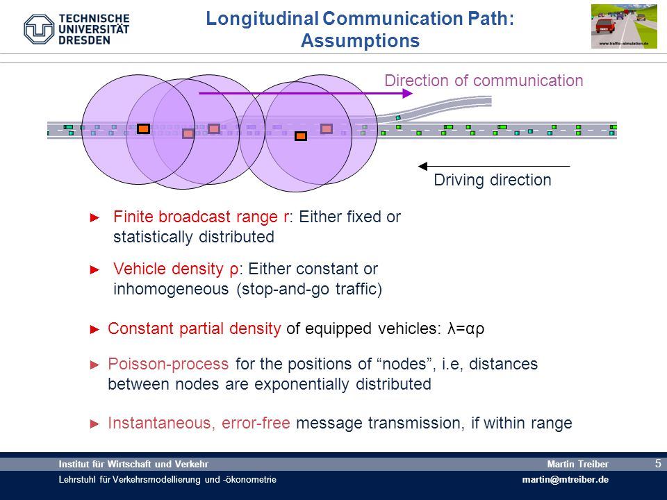 Longitudinal Communication Path: Assumptions