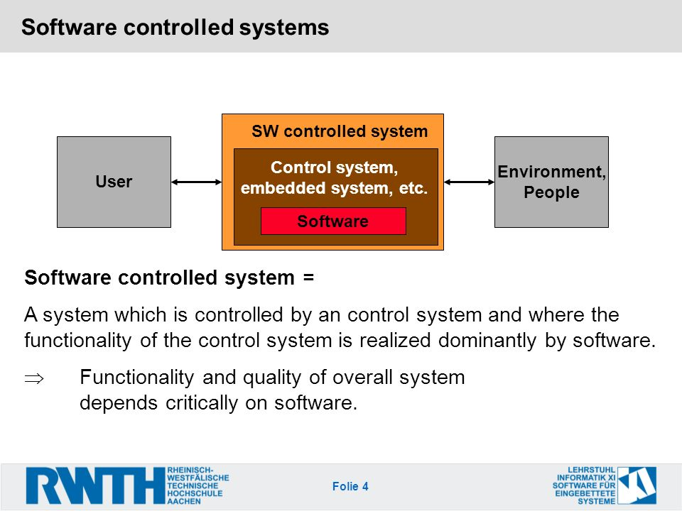 Software controlled systems