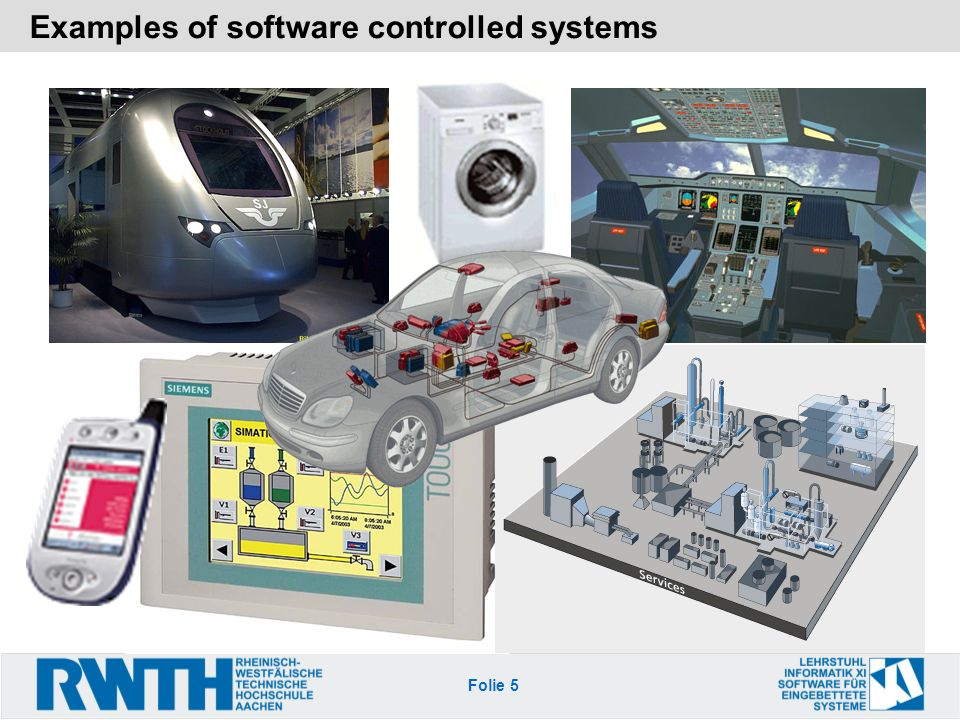Examples of software controlled systems