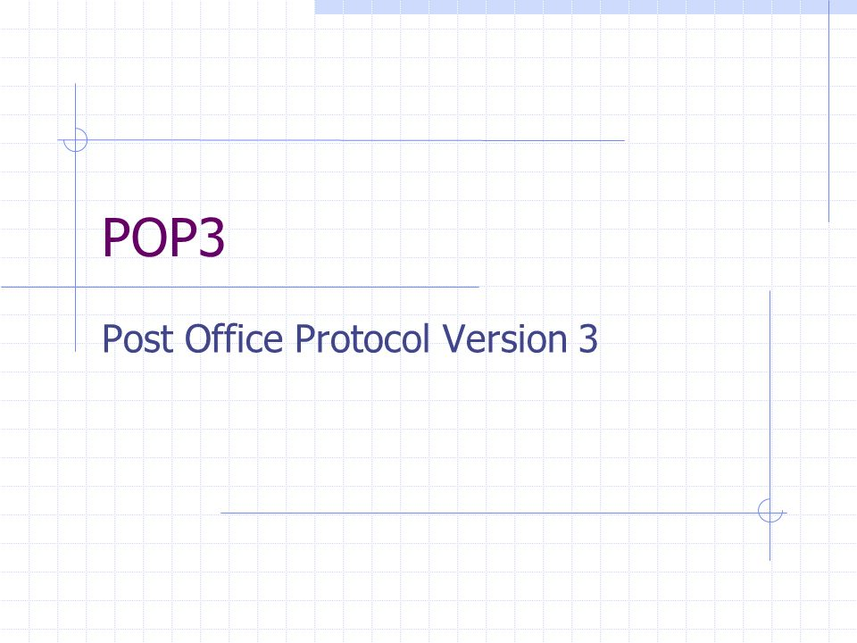 Post Office Protocol Version 3