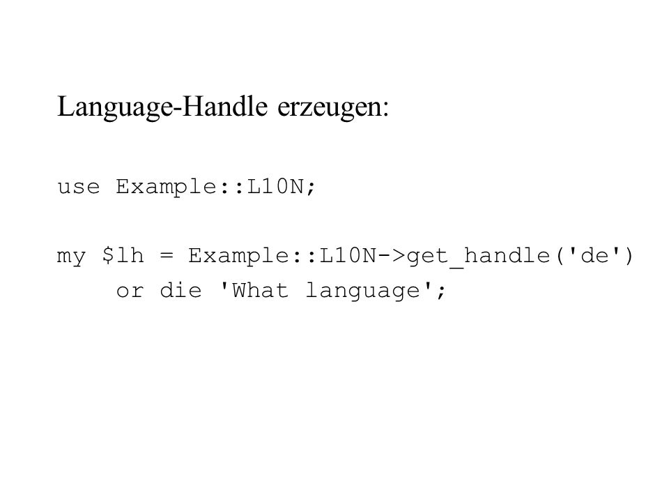 Language-Handle erzeugen: