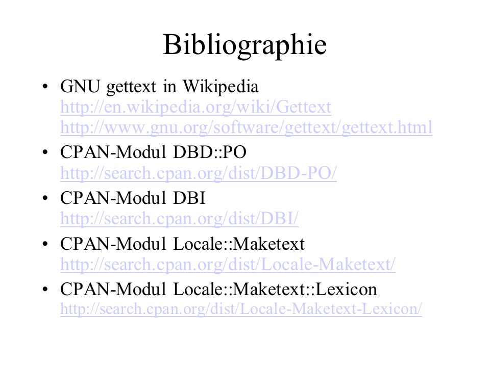 Bibliographie GNU gettext in Wikipedia