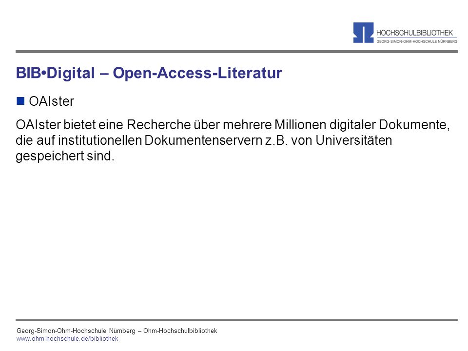 BIB•Digital – Open-Access-Literatur