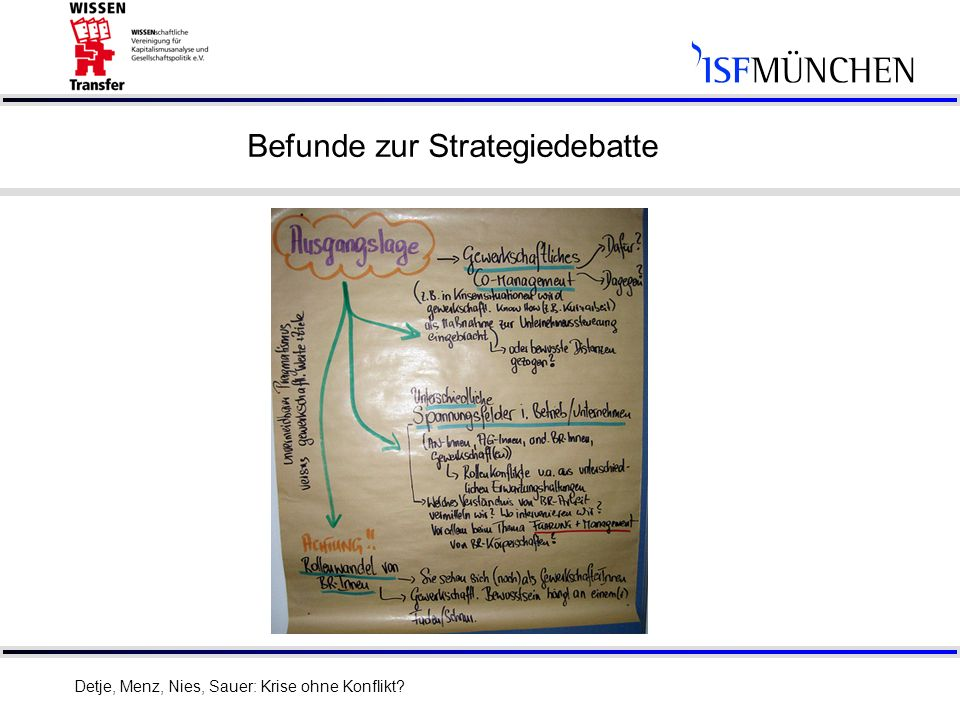 Befunde zur Strategiedebatte