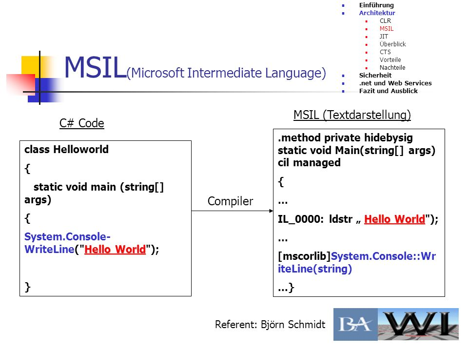 MSIL(Microsoft Intermediate Language)