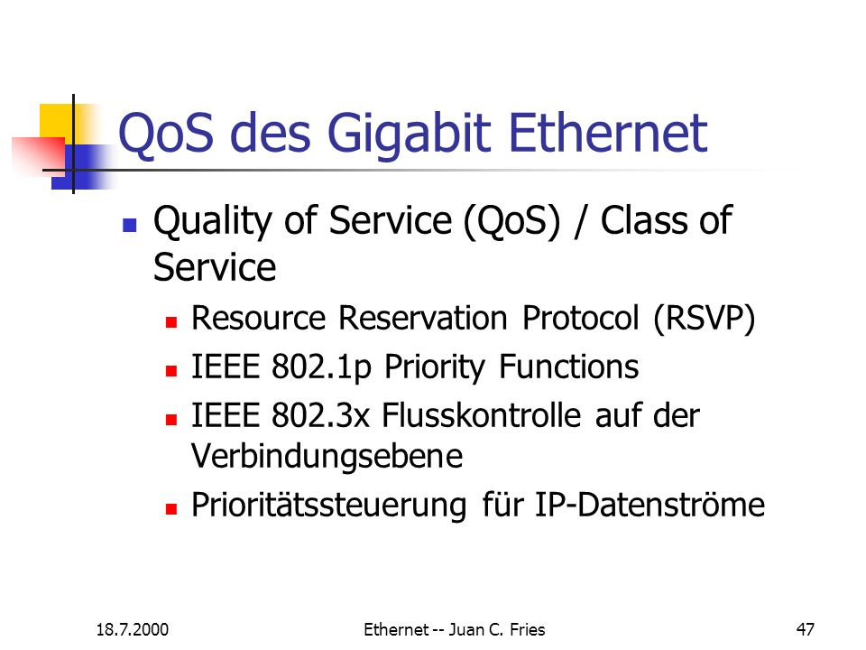 QoS des Gigabit Ethernet