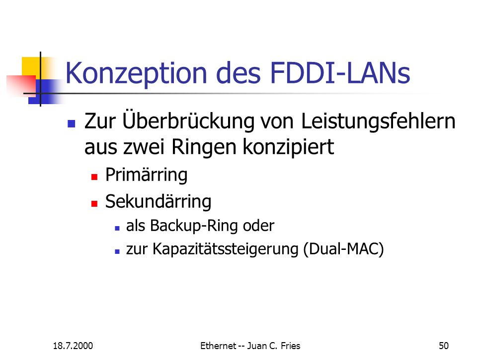 Konzeption des FDDI-LANs