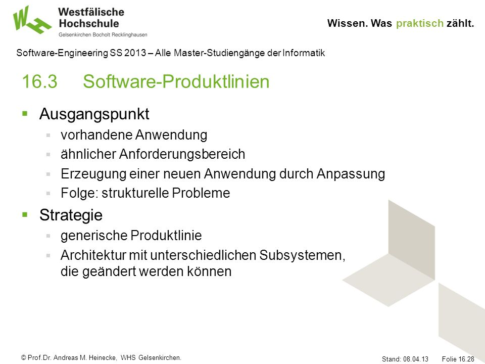 16.3 Software-Produktlinien