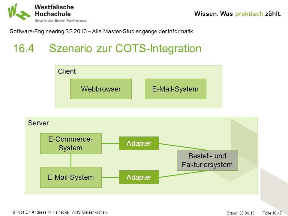 16.4 Szenario zur COTS-Integration